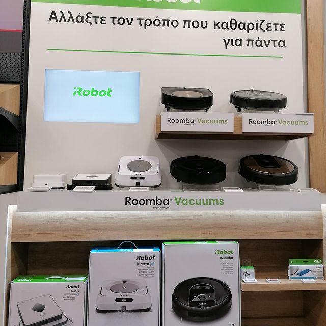 Οι ρομποτικές σκούπες και σφουγγαρίστρες της iRobot και όλα τα αξεσουάρ Roomba & Braava, διαθέσιμα στα καταστήματα @kotsovolos_greece